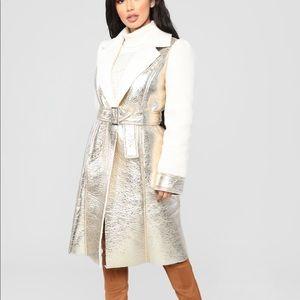 Brand New   Tags   Metallic Longline Jacket